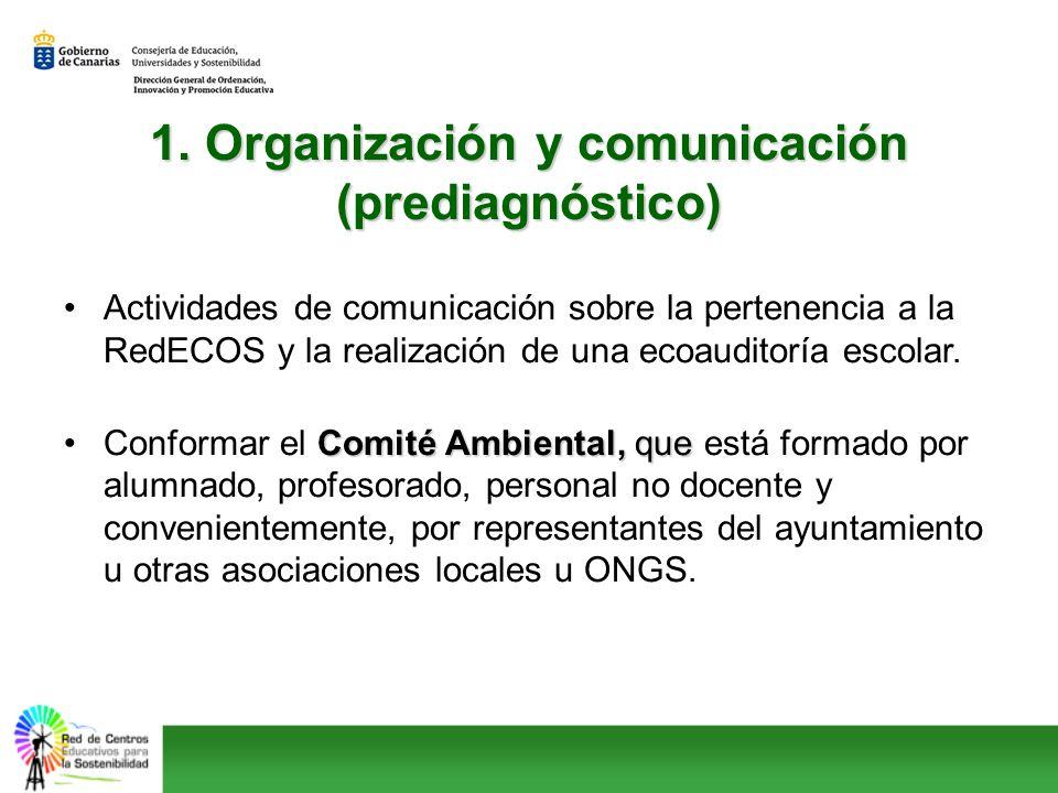 1. Organización y comunicación (prediagnóstico)