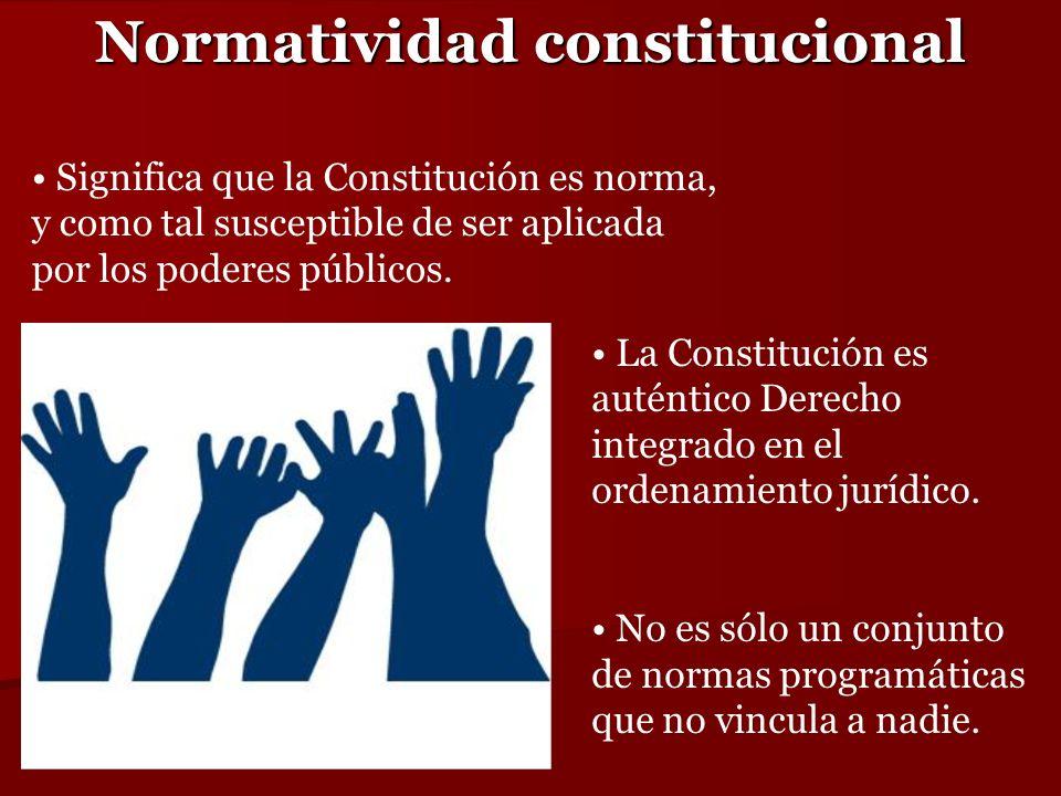 Normatividad constitucional