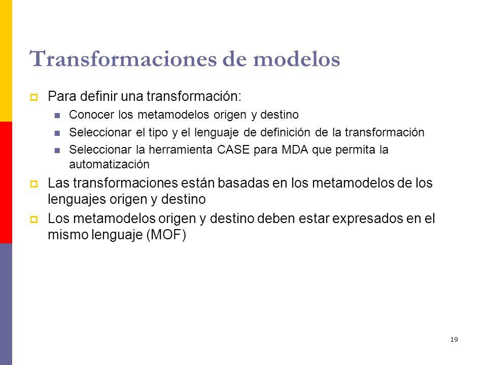 Transformaciones de modelos