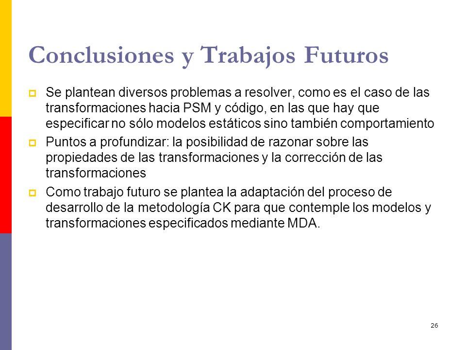 Conclusiones y Trabajos Futuros