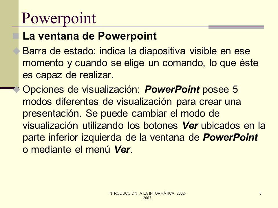 INTRODUCCIÓN A LA INFORMÁTICA 2002-2003