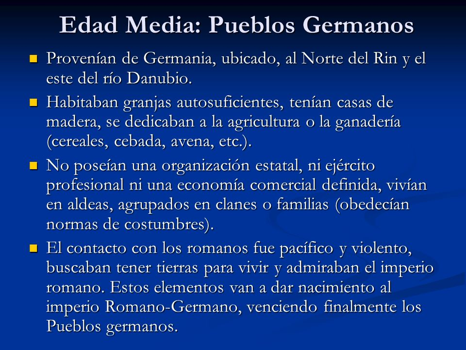 Edad Media: Pueblos Germanos