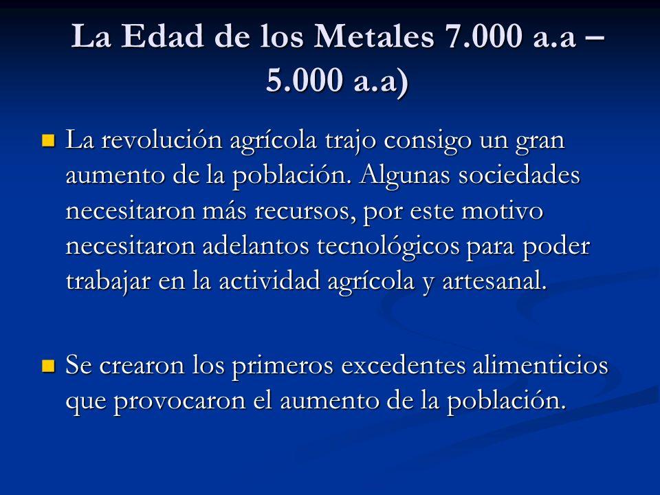 La Edad de los Metales 7.000 a.a – 5.000 a.a)