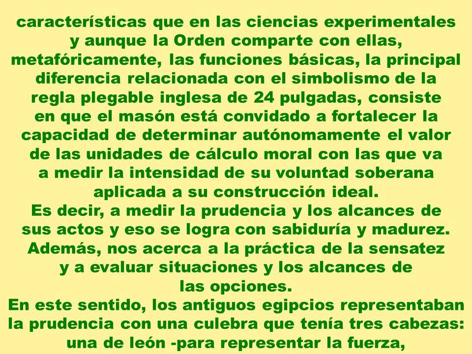 características que en las ciencias experimentales