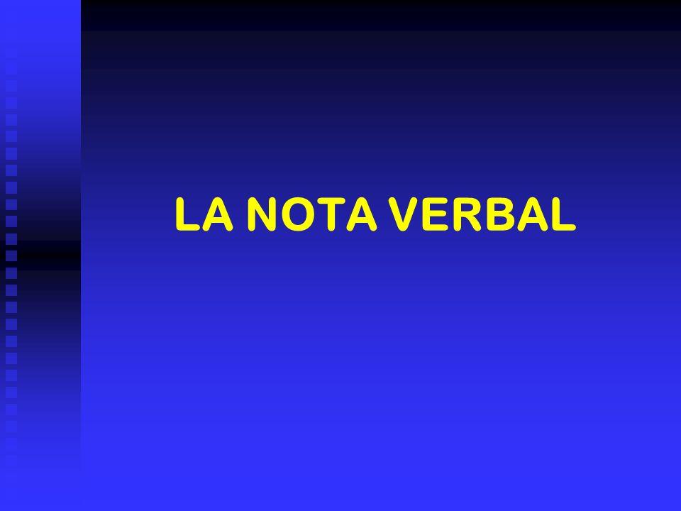 LA NOTA VERBAL