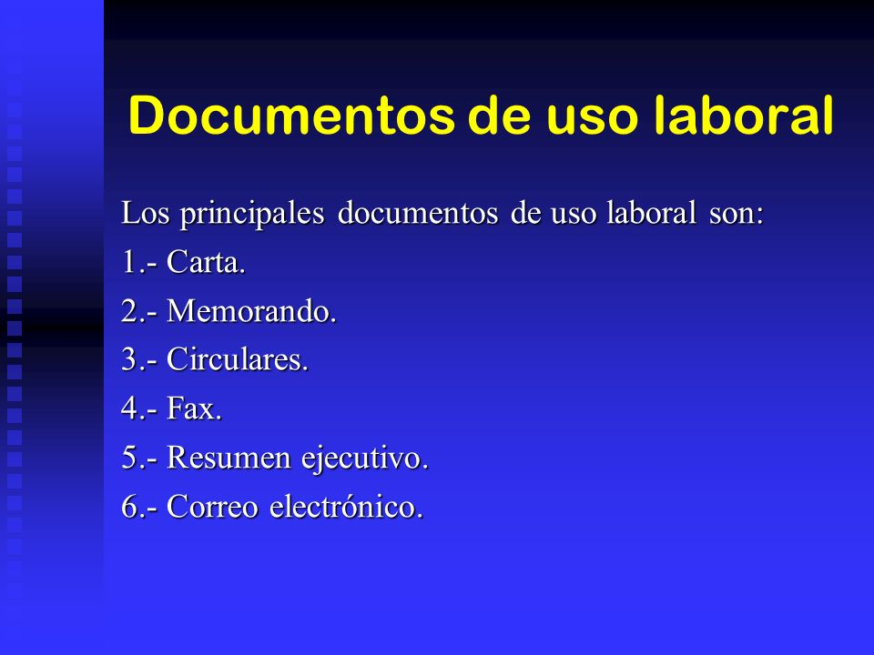 Documentos de uso laboral