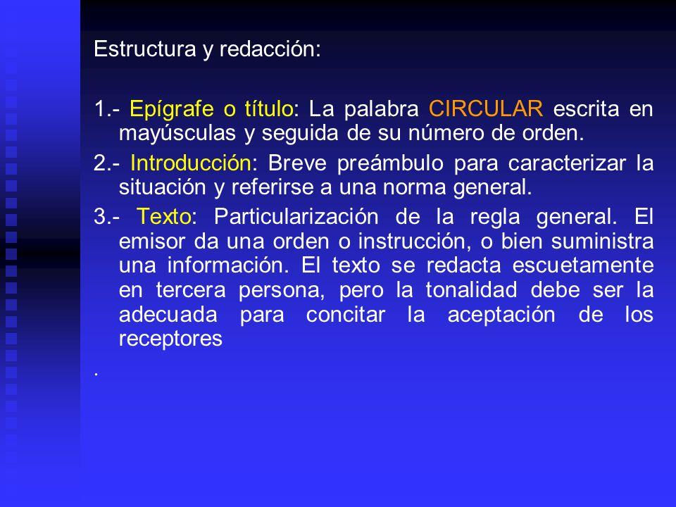 Estructura y redacción: