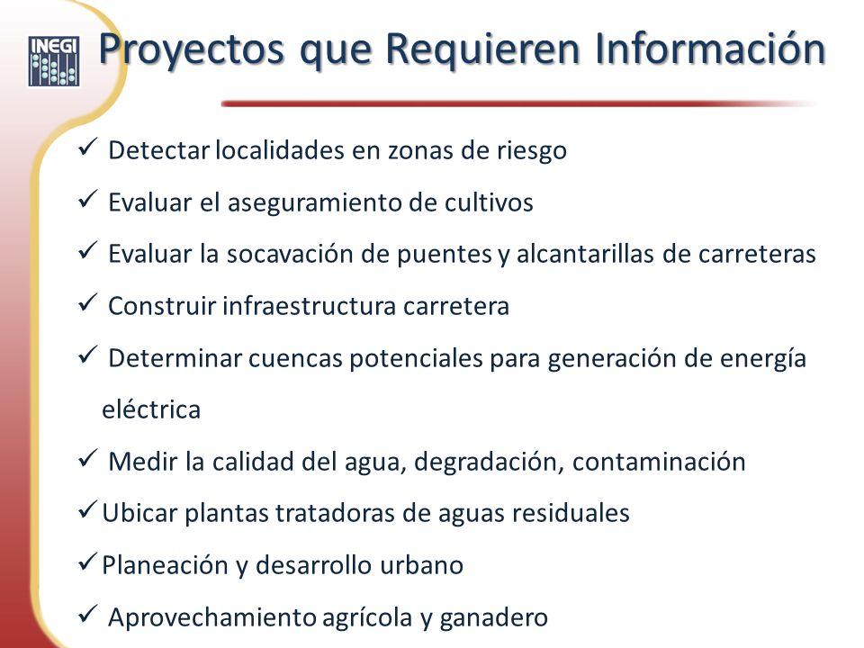 Proyectos que Requieren Información