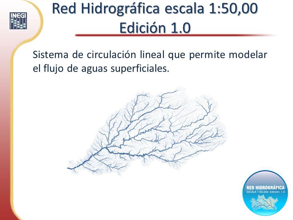 Red Hidrográfica escala 1:50,00 Edición 1.0