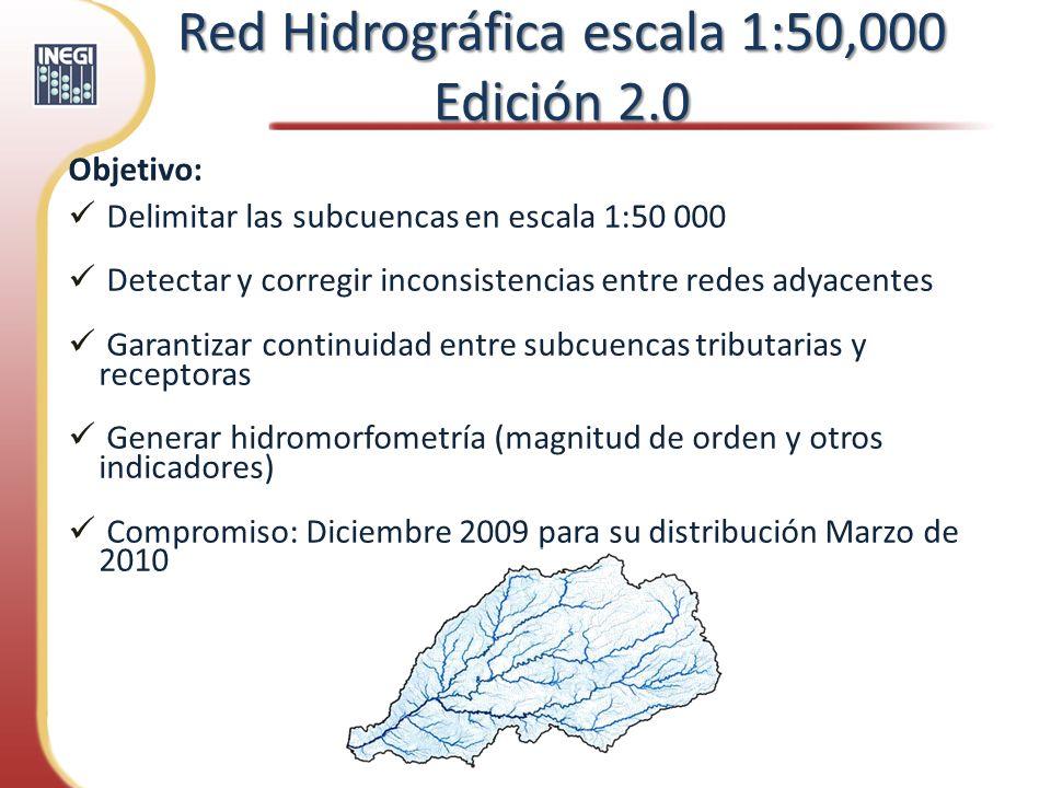 Red Hidrográfica escala 1:50,000 Edición 2.0