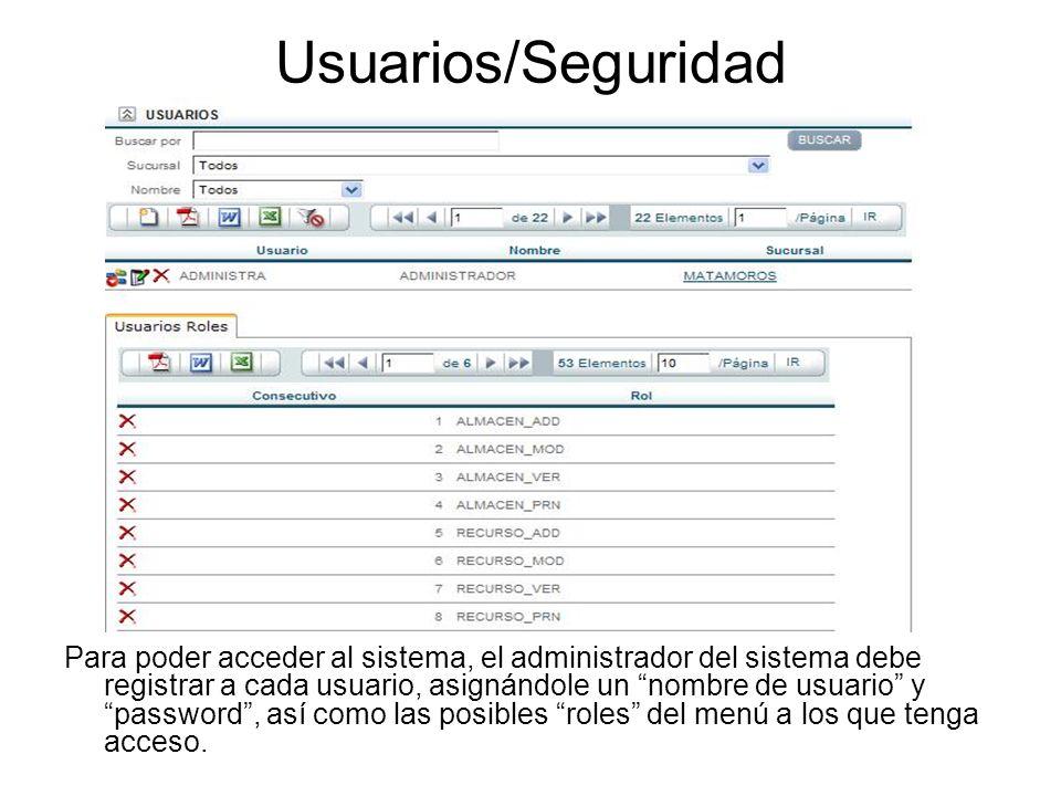 Usuarios/Seguridad