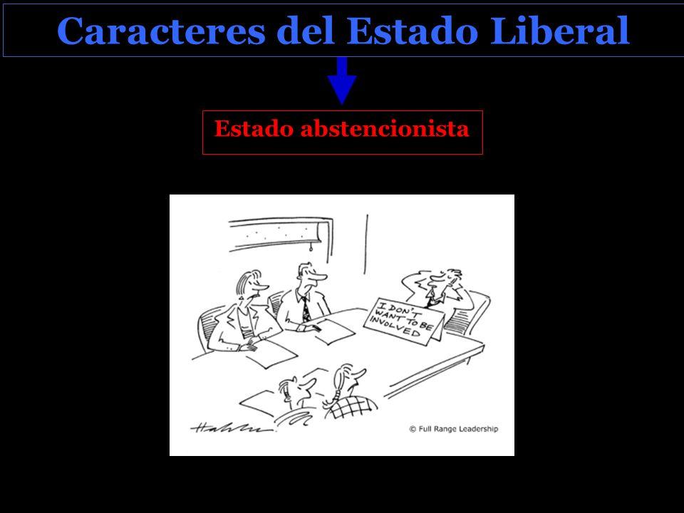 Caracteres del Estado Liberal Estado abstencionista