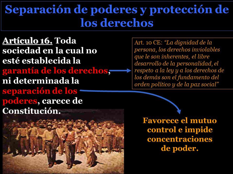 Separación de poderes y protección de los derechos