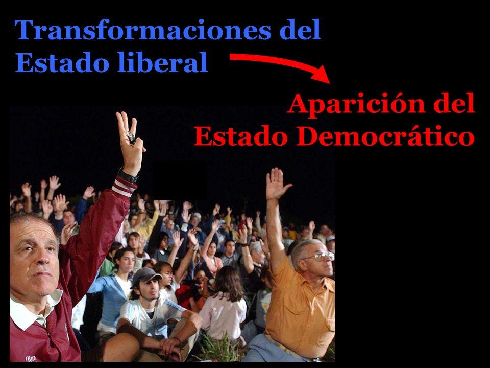 Transformaciones del Estado liberal