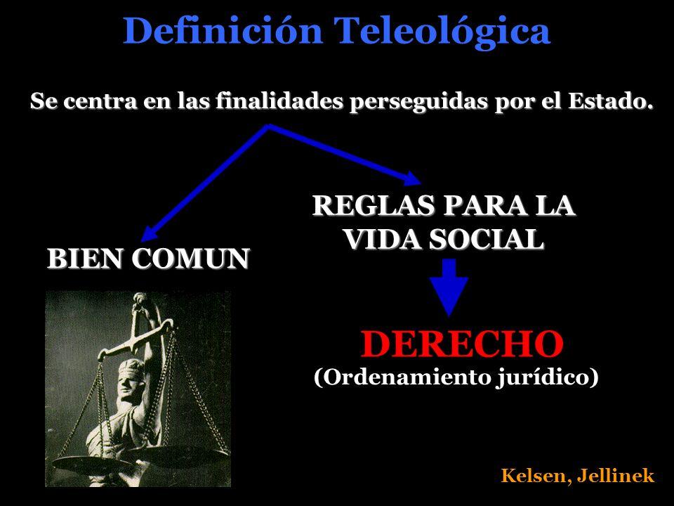 Definición Teleológica DERECHO