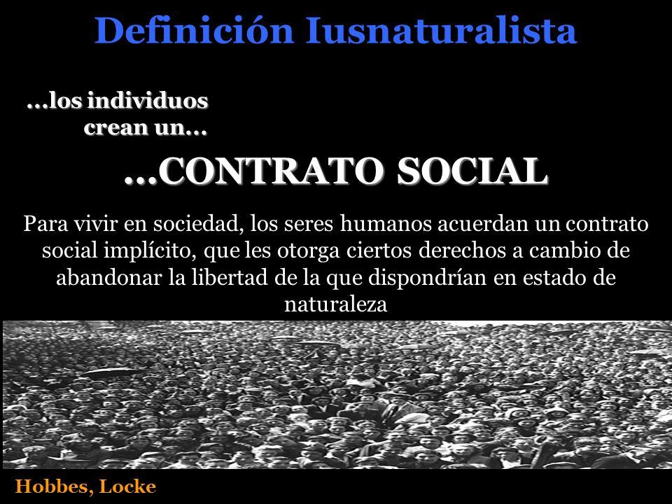 Definición Iusnaturalista