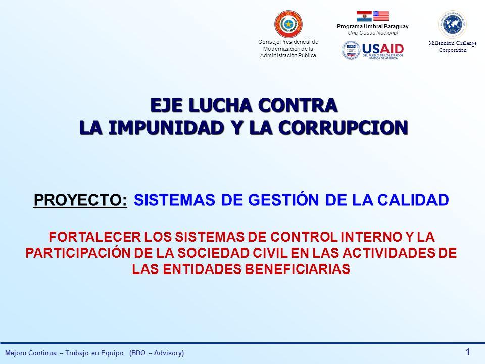 EJE LUCHA CONTRA LA IMPUNIDAD Y LA CORRUPCION