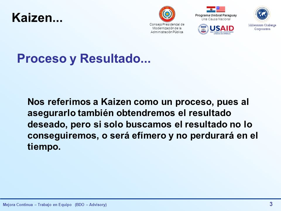 Kaizen... Proceso y Resultado...
