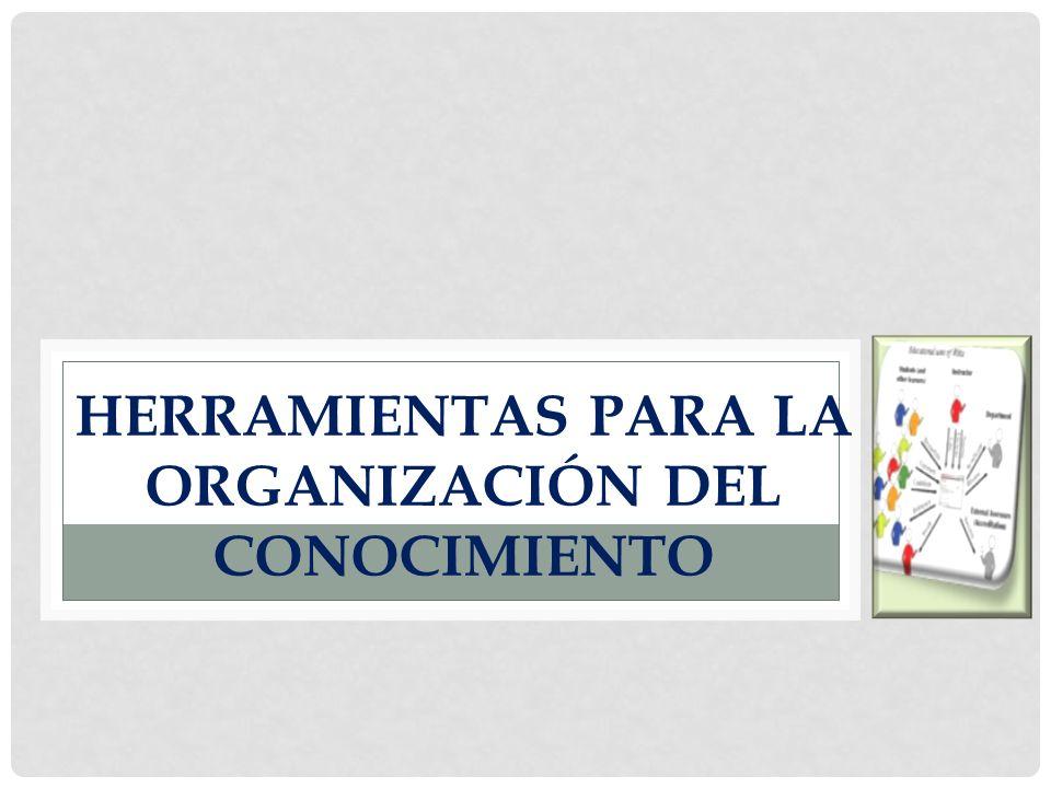 HERRAMIENTAS PARA LA ORGANIZACIÓN DEL CONOCIMIENTO