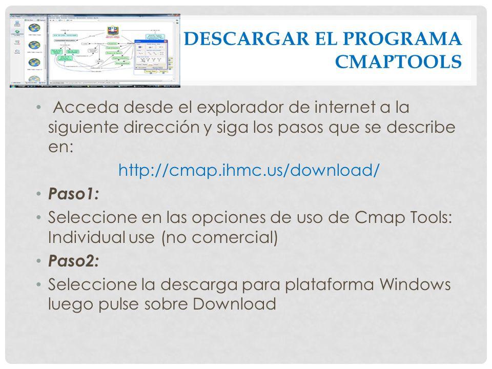 DESCARGAR EL PROGRAMA CMAPTOOLS