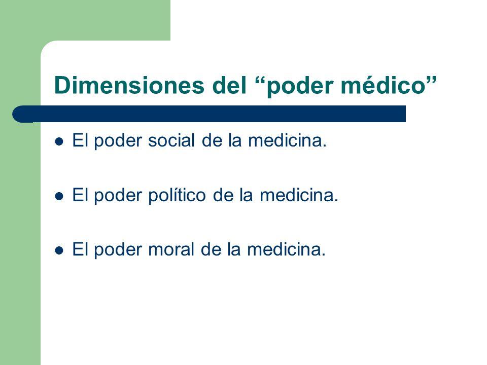 Dimensiones del poder médico