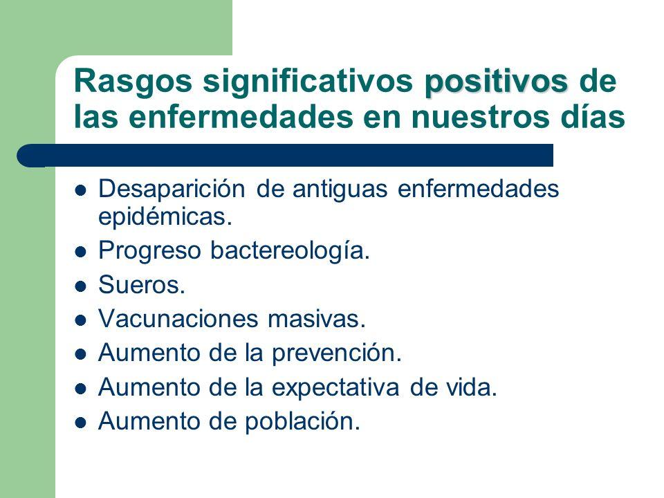 Rasgos significativos positivos de las enfermedades en nuestros días