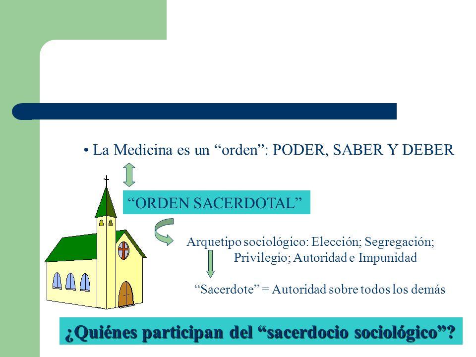 ¿Quiénes participan del sacerdocio sociológico