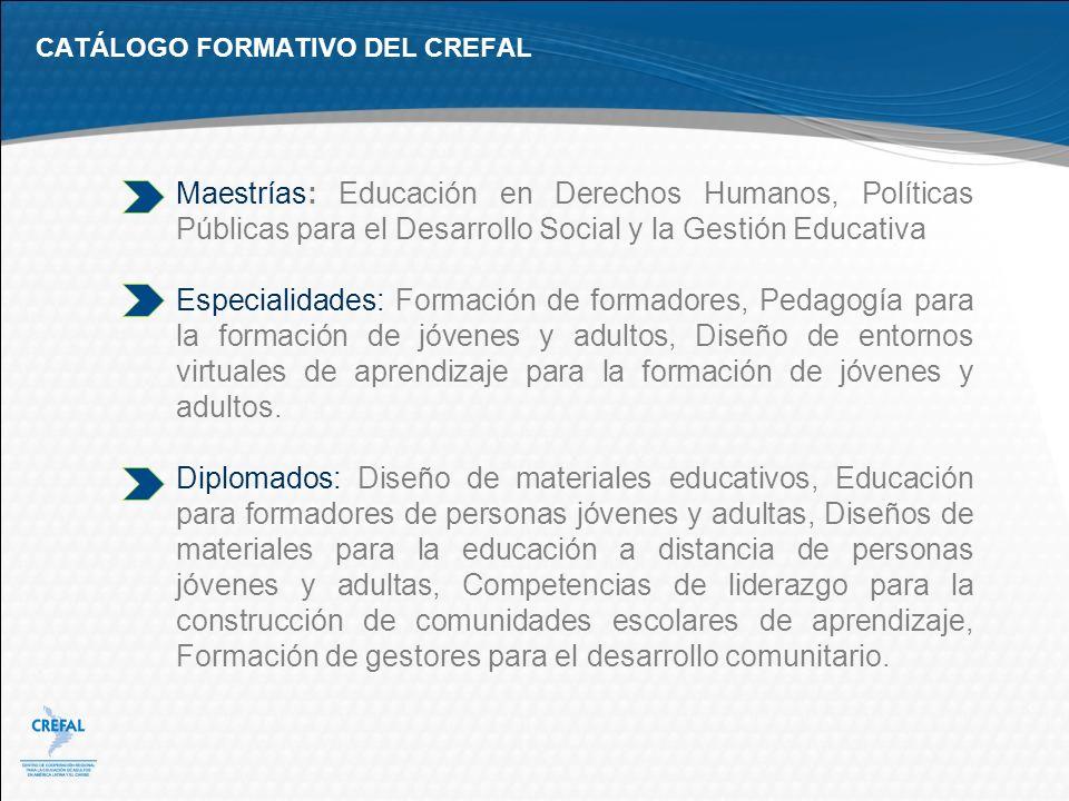 CATÁLOGO FORMATIVO DEL CREFAL