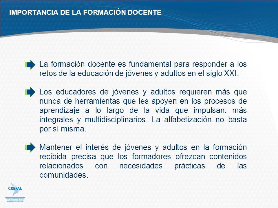 IMPORTANCIA DE LA FORMACIÓN DOCENTE