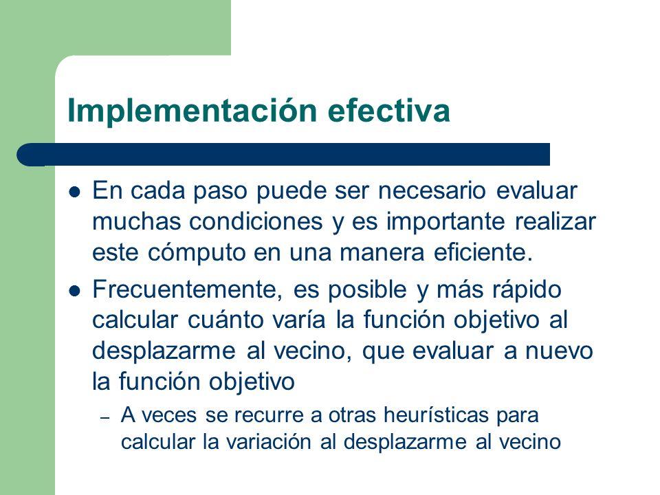 Implementación efectiva