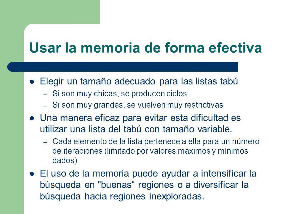 Usar la memoria de forma efectiva