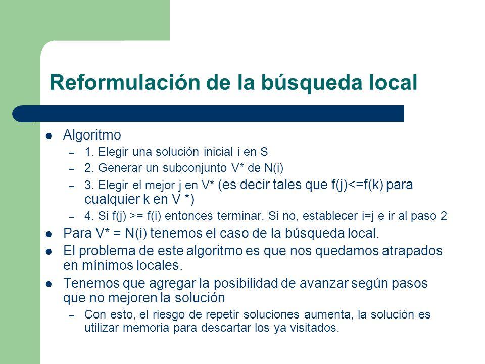 Reformulación de la búsqueda local