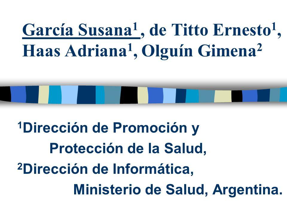 García Susana1 , de Titto Ernesto1, Haas Adriana1, Olguín Gimena2