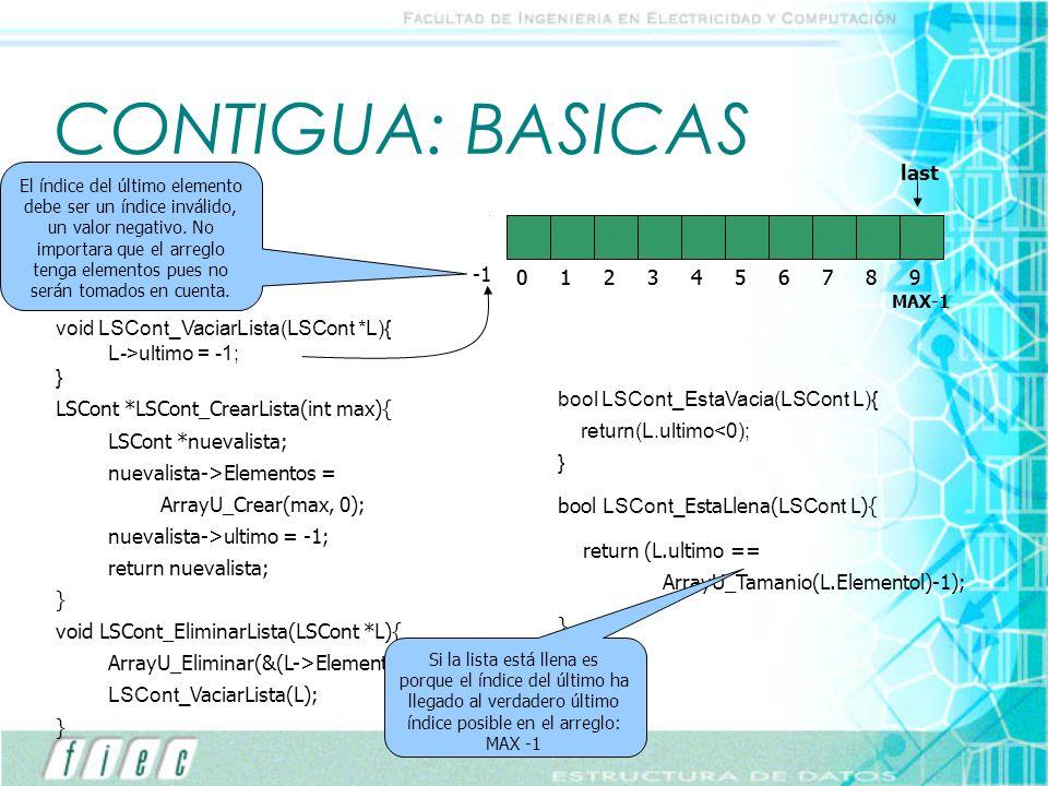 CONTIGUA: BASICAS last last 1 2 3 4 5 6 7 8 9 1 2 3 4 5 6 7 8 9 -1