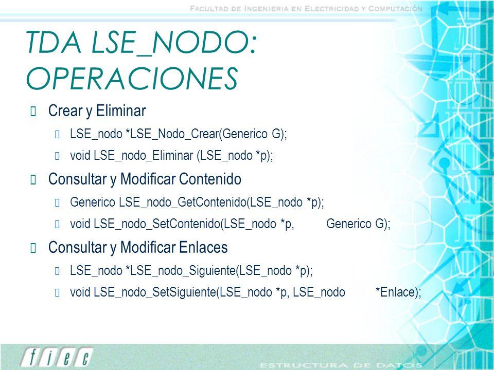 TDA LSE_NODO: OPERACIONES