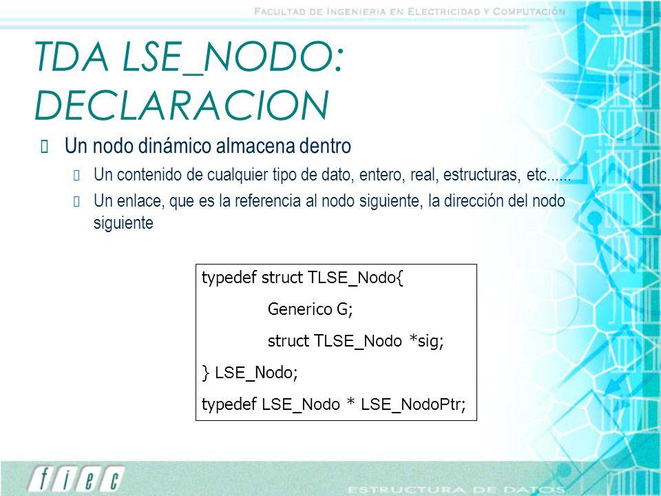 TDA LSE_NODO: DECLARACION