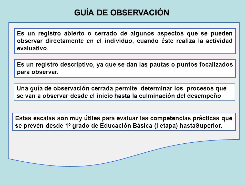 GUÍA DE OBSERVACIÓN