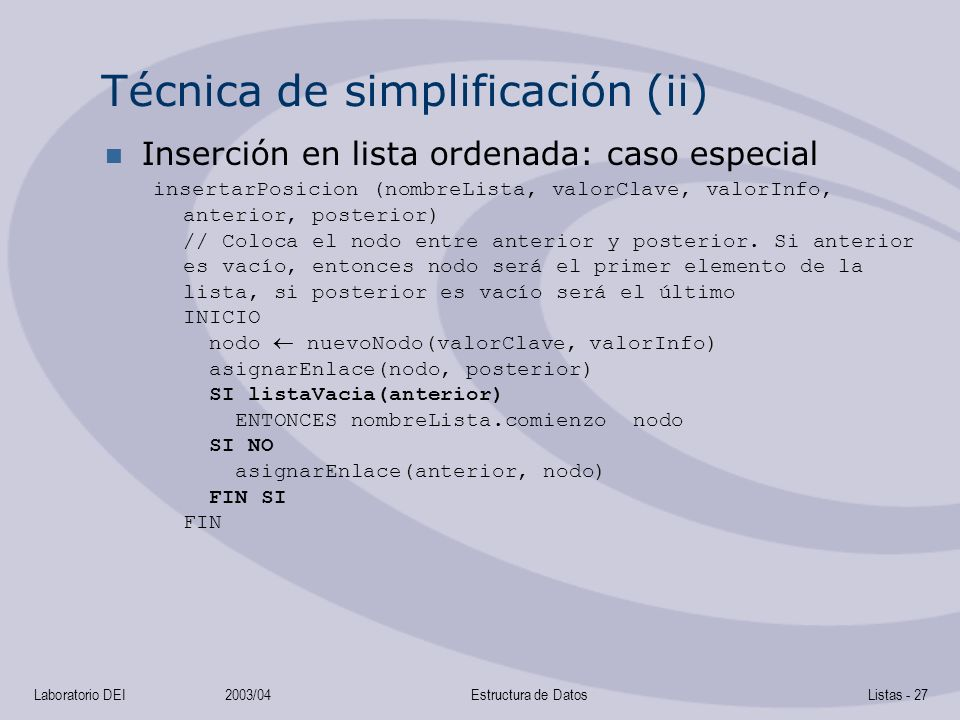 Técnica de simplificación (ii)