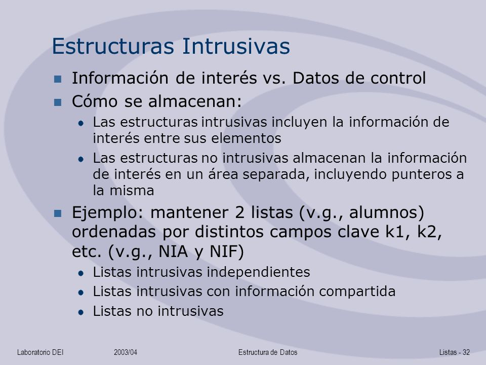 Estructuras Intrusivas