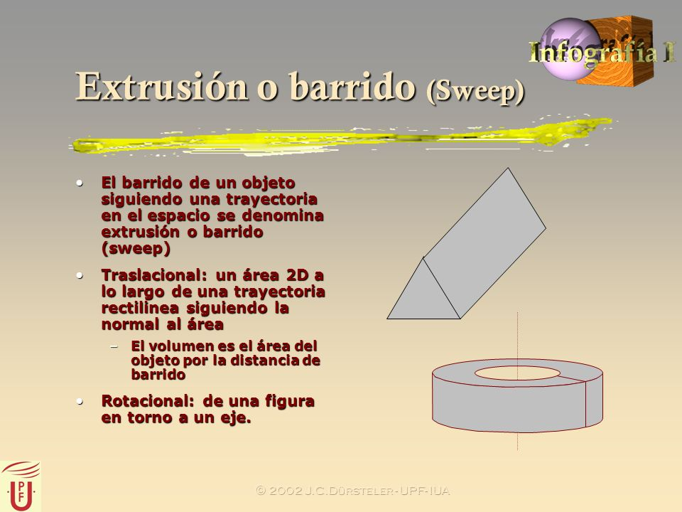 Extrusión o barrido (Sweep)