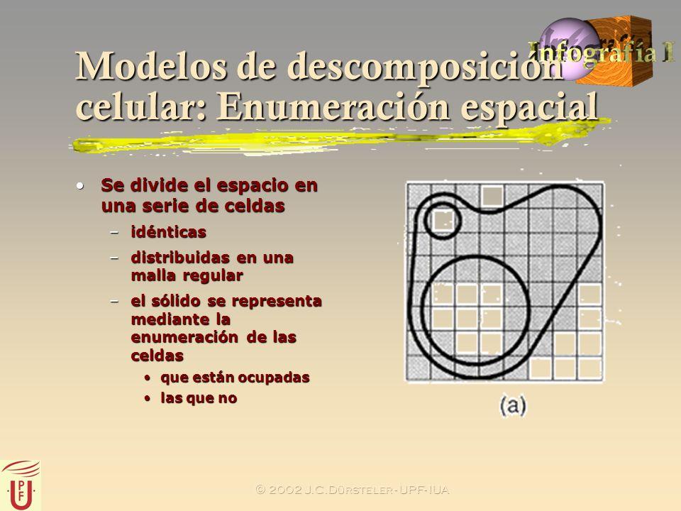 Modelos de descomposición celular: Enumeración espacial