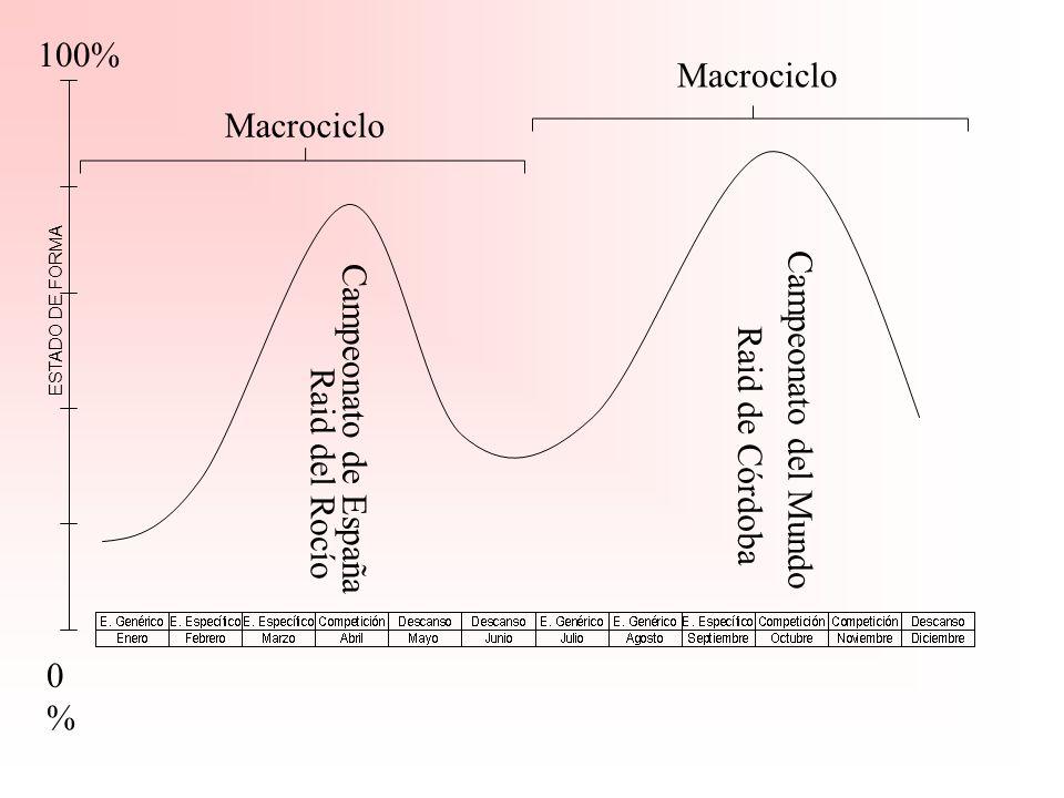 100% Macrociclo Macrociclo Campeonato del Mundo Campeonato de España
