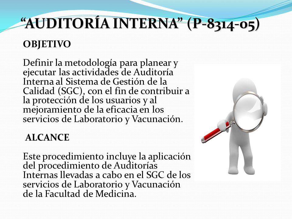 AUDITORÍA INTERNA (P-8314-05)