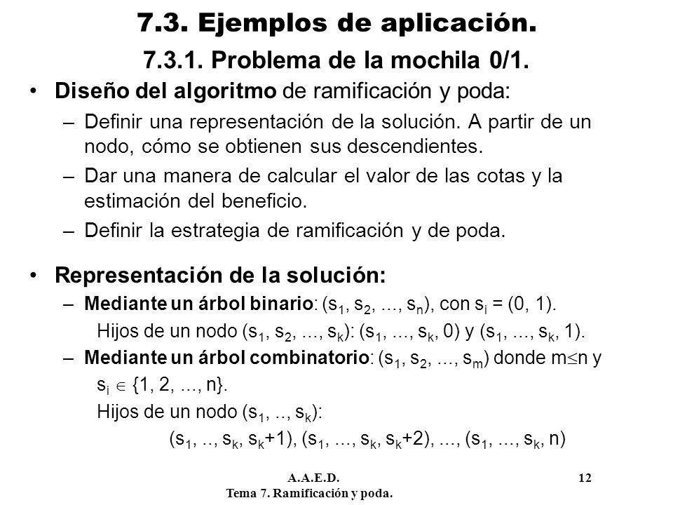 7.3. Ejemplos de aplicación.