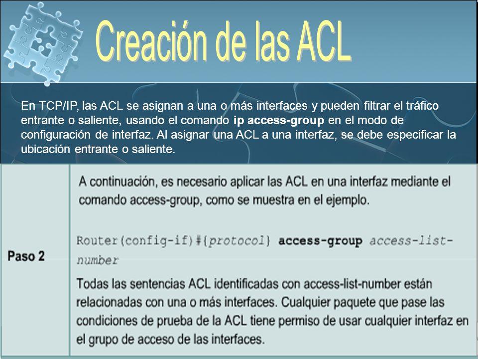 Creación de las ACL