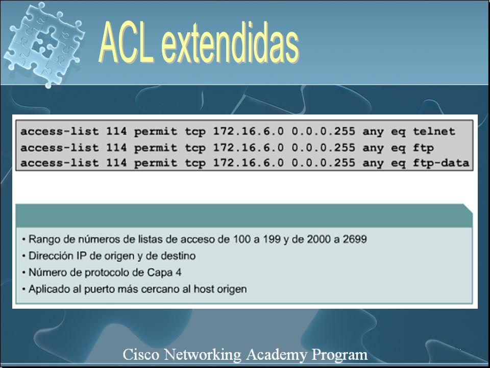ACL extendidas