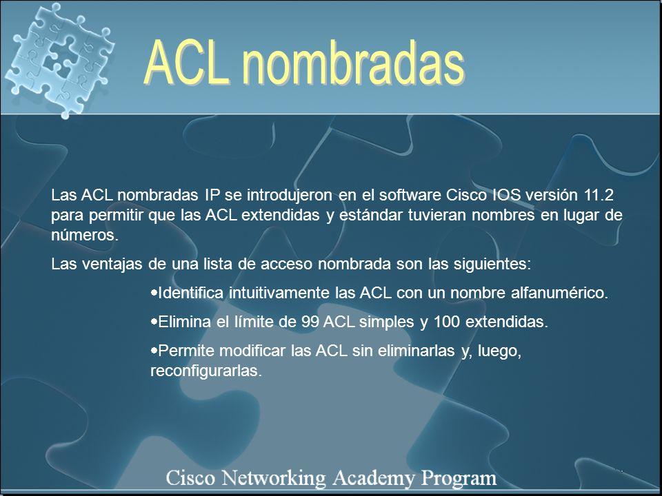 ACL nombradas