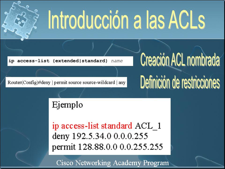 Introducción a las ACLs