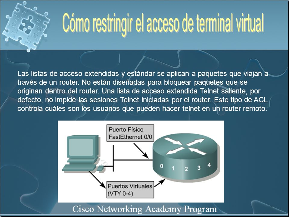 Cómo restringir el acceso de terminal virtual