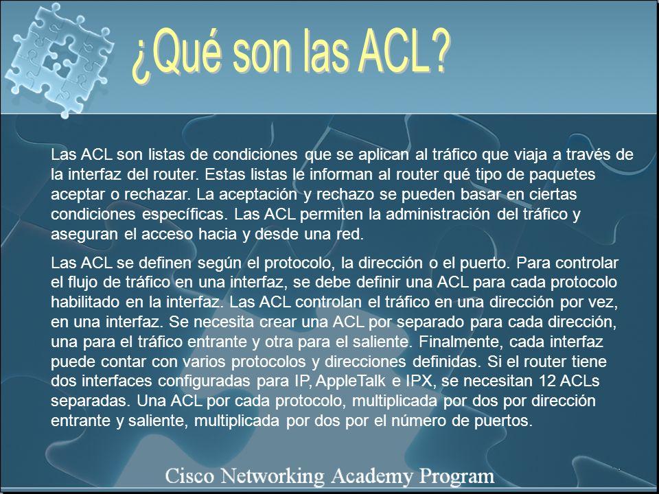 ¿Qué son las ACL